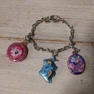 My little pony 3 charm bracelet